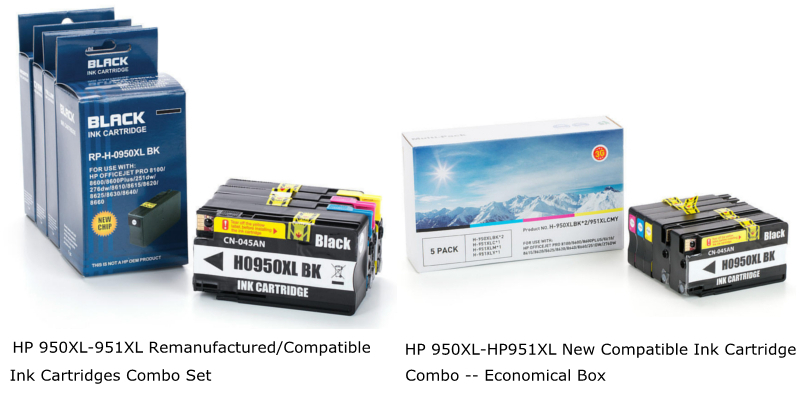 HP 950XL-951XL Compatible Ink Cartridges Combo
