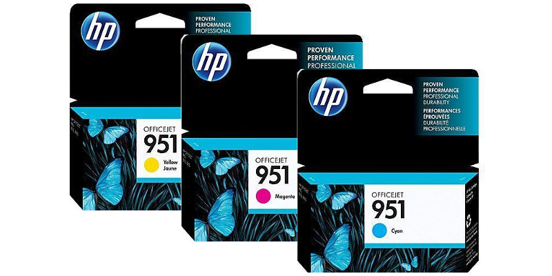 HP 951 Cyan, Magenta, Yellow Ink Cartridges