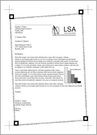 Figure 1:  ISO/IEC 19752 monochrome test page