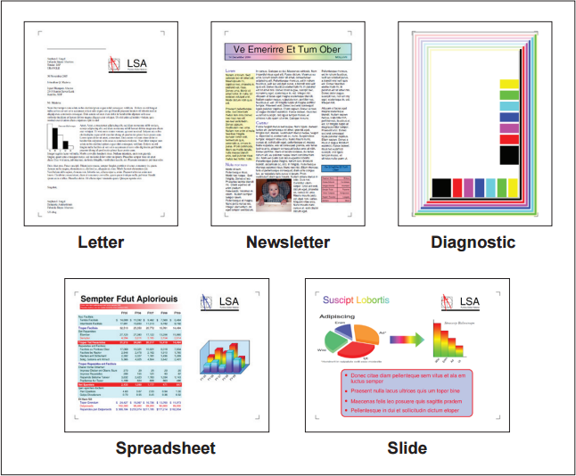 Figure 2:  ISO/IEC 19798 and 24711 color test pages