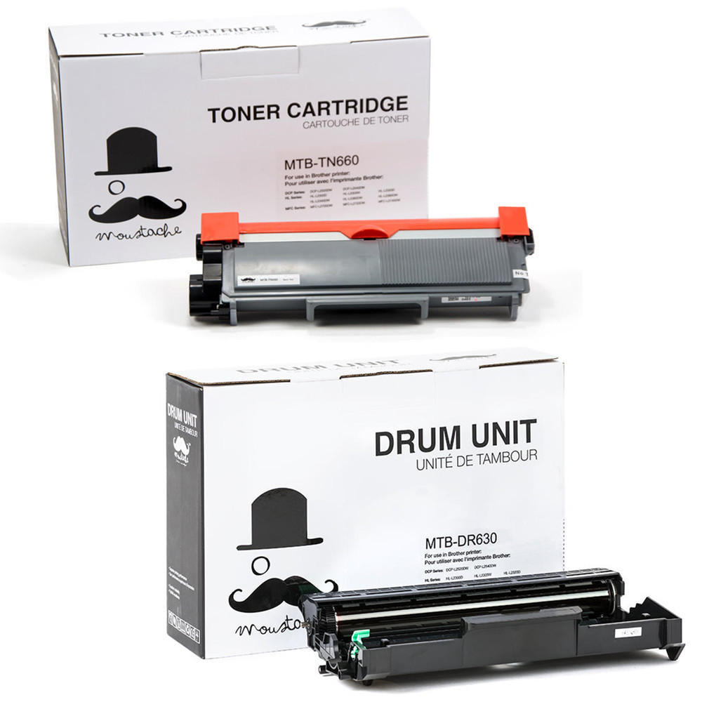 Brother TN-660 & DR-630 Compatible Toner Cartridge & Drum Unit Combo - Moustache®