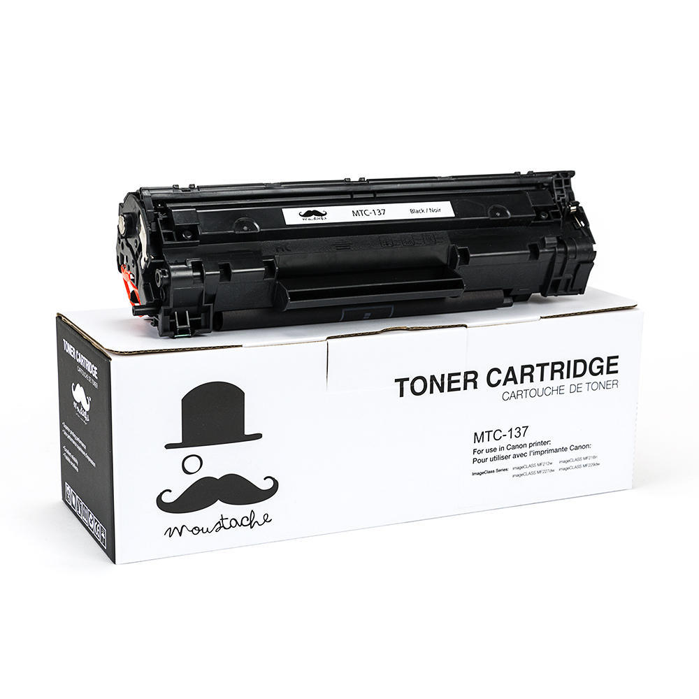 Canon 137 New Compatible Black Toner Cartridge - Moustache®