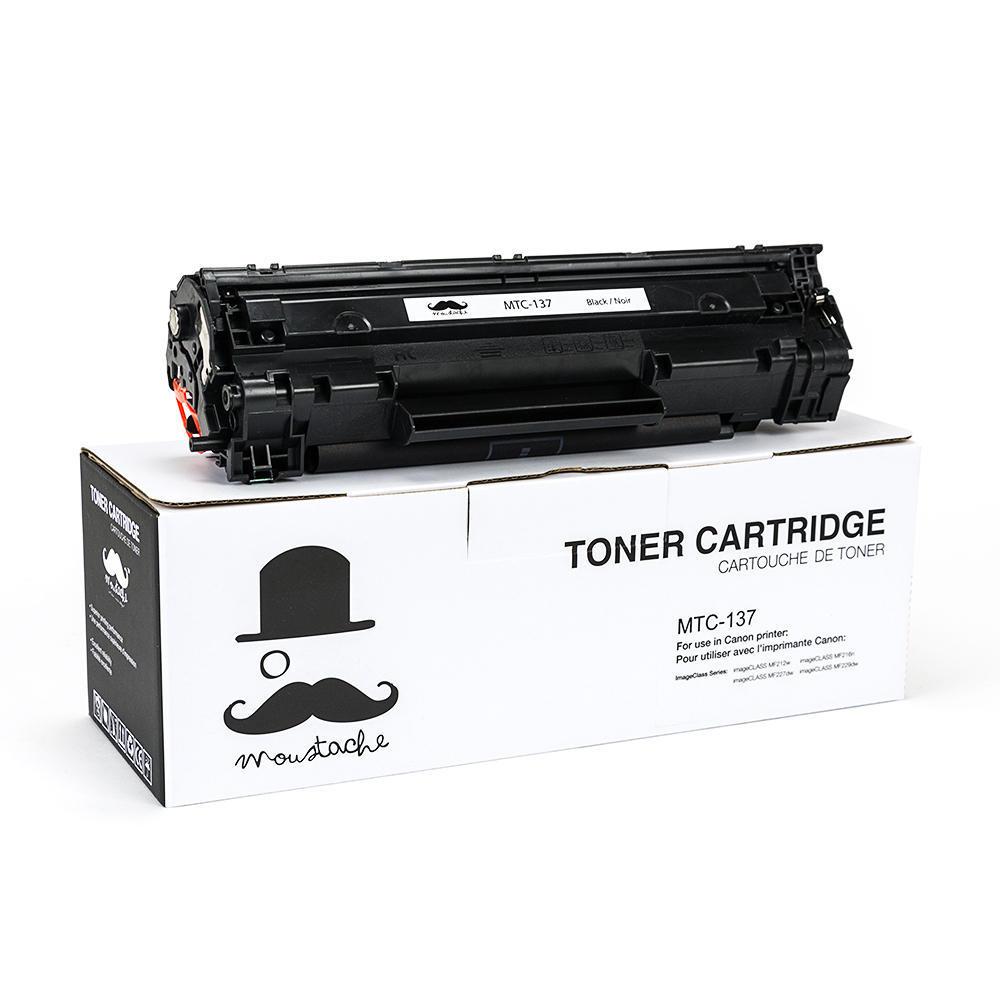 Canon 137 New Compatible Black Toner Cartridge - Moustache®