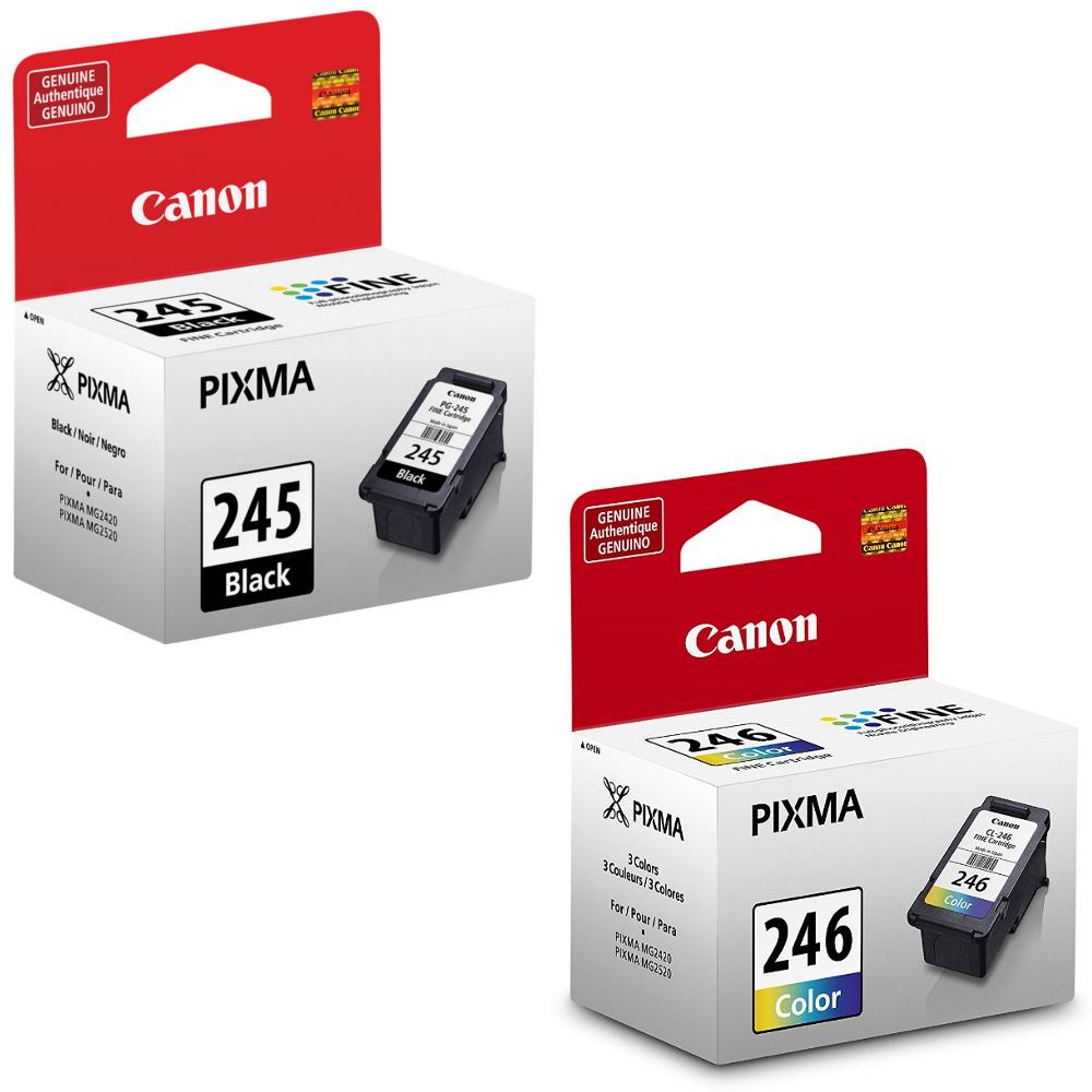 Canon PG-245 Black, CL-246 Color OEM Ink Cartridges