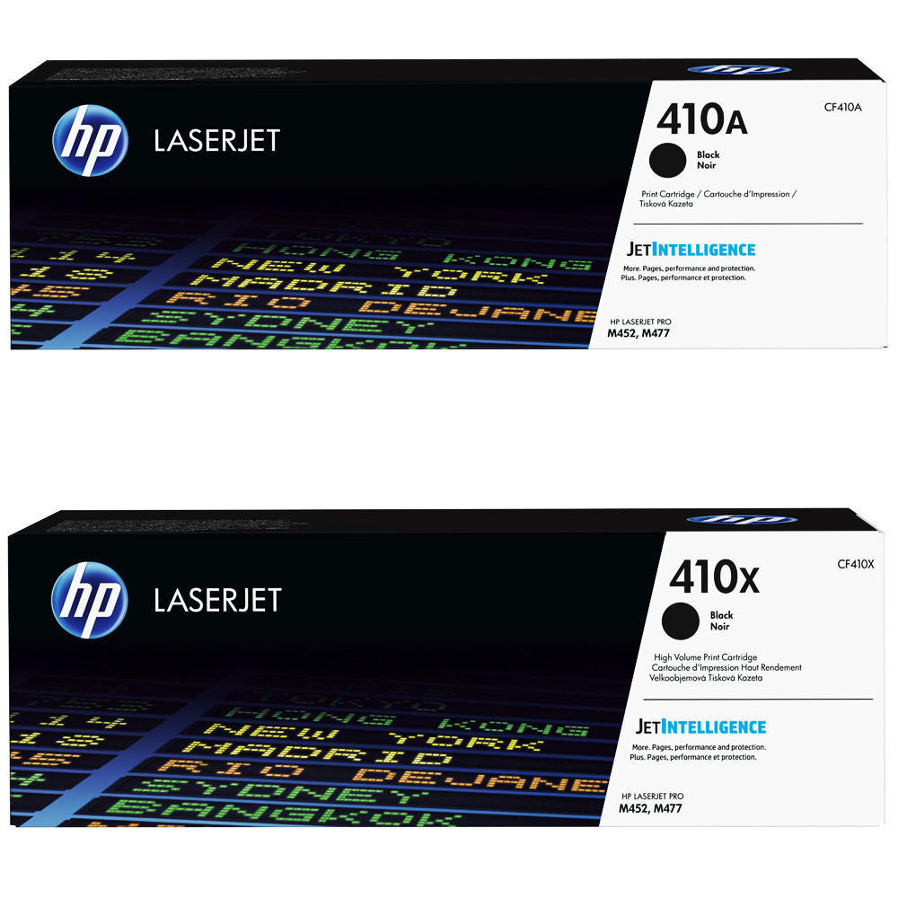 HP 410A CF410A Black, HP 410X BK Original Toner Cartridges