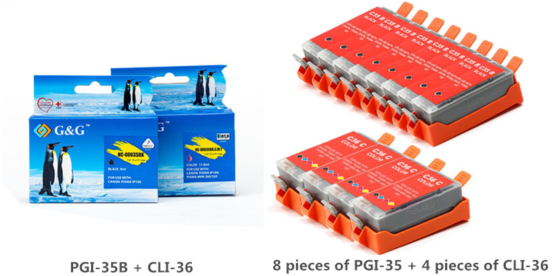 Canon PGI-35 CLI-36C New Compatible Ink Cartridges Value Pack