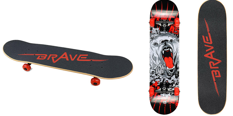 BRAVE-marks-Skateboards-Concave-Complete-31-Inch-Skateboard-with-Northeast-Maple