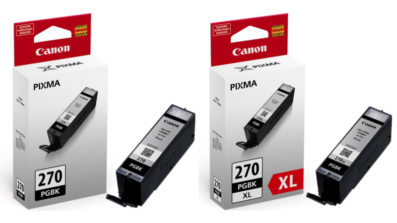 PGI-270 & PGI-270XL Original Pigment Black Ink Cartridges