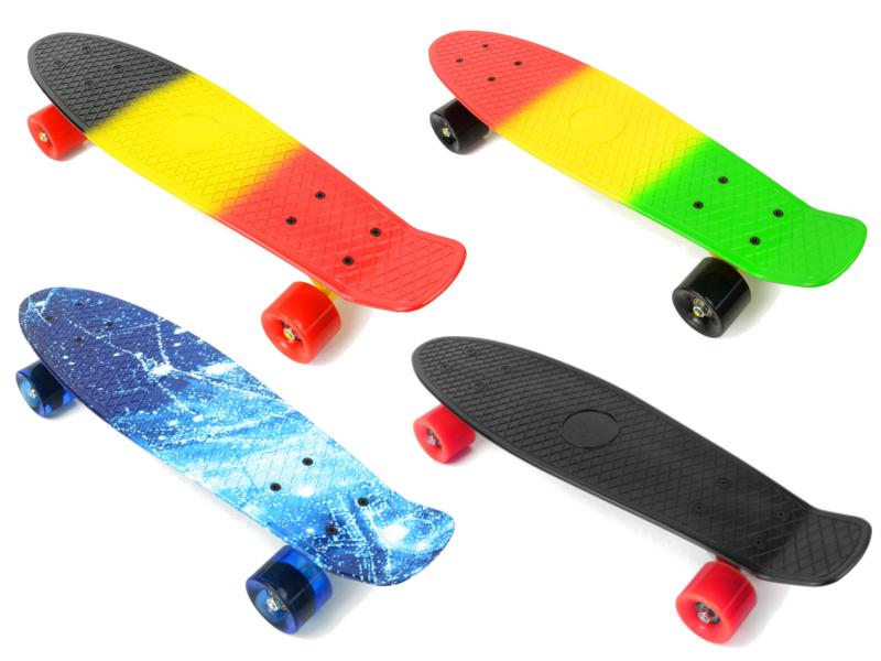 PHAT® Retro 22'' Cruiser Penny Style Skateboard Complete Deck Mini Plastic Skate Board
