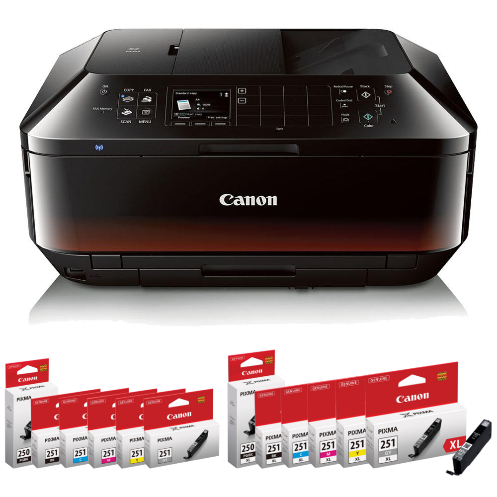 Canon Printers Canon PIXMA MX922 Wireless Color All-in-One Inkjet Printer & The Matching Ink Cartridges