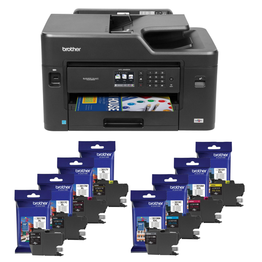 Brother MFC-J5330DW Business Smart Plus All-in-One Color Inkjet Printer & The Matching Ink Cartridges