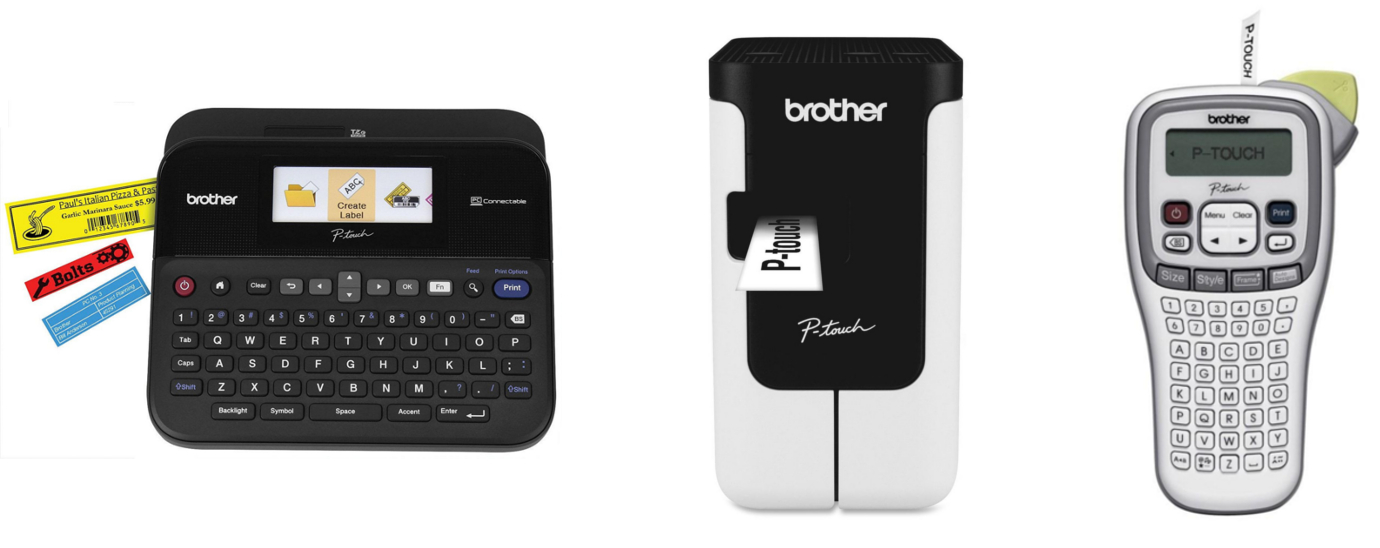 Brother PT-D600 & PT-P700 & PT-H100 Label Printers