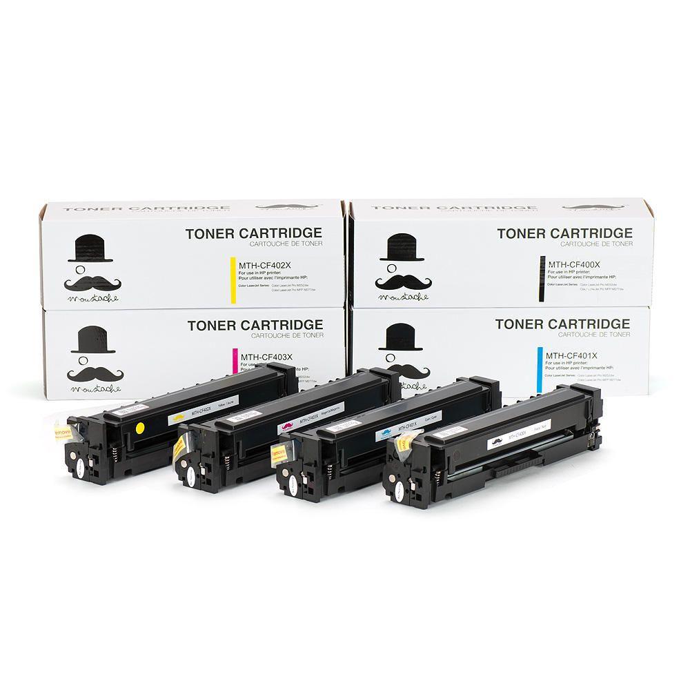 Compatible HP 201X Toner Cartridge Combo High Yield BK/C/M/Y - Moustache®