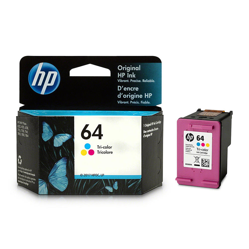 HP 64 N9J89AN Original Tri-color Ink Cartridge