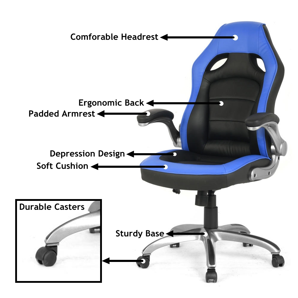 Racing Car Gaming Chair, Computer Desk Chair - Moustache®