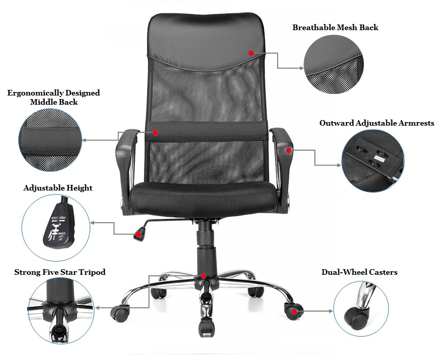Moustache® Ergonomic High Back Office Chair