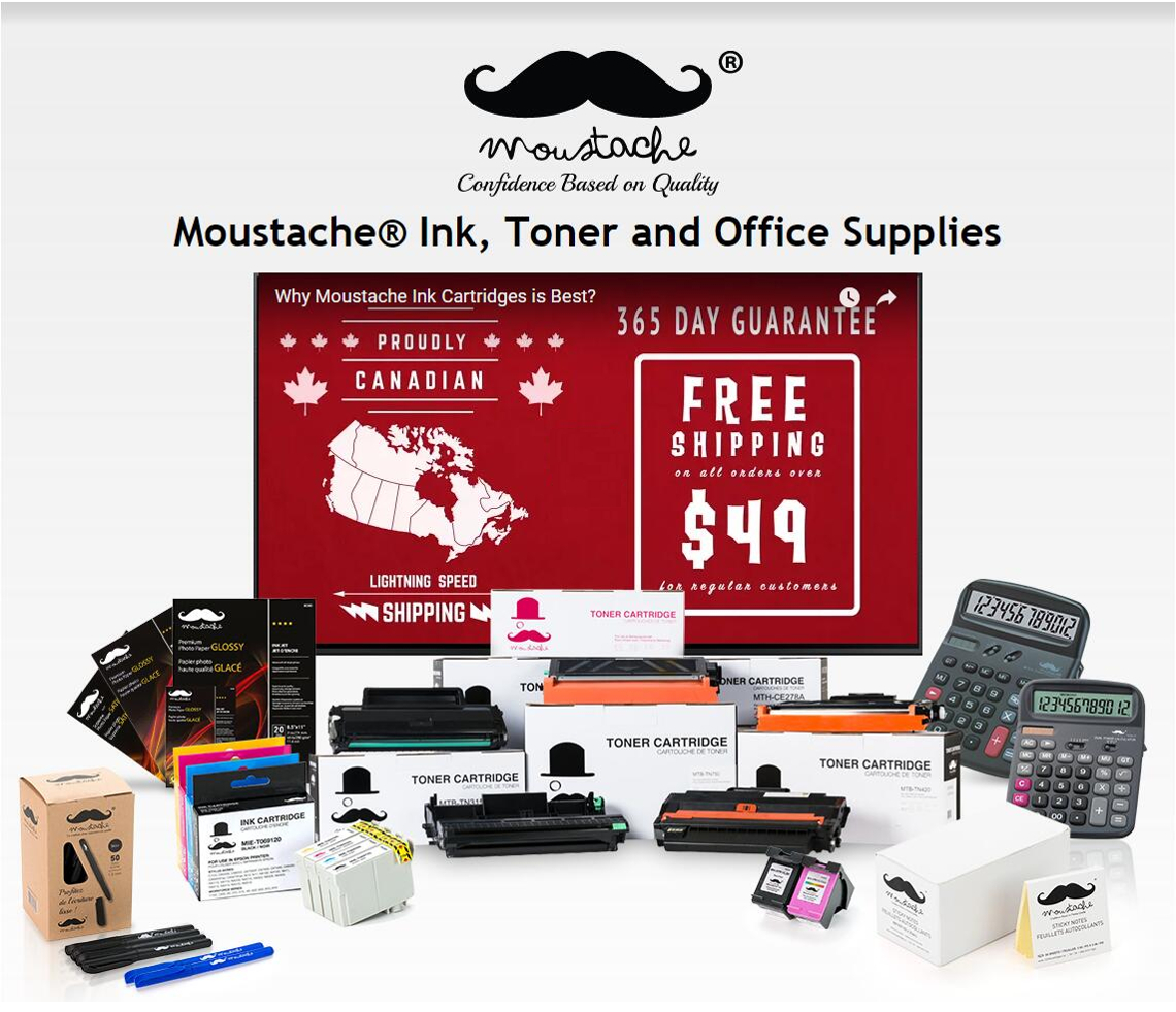 Moustache Ink and Toner Cartridges, Office Supplies