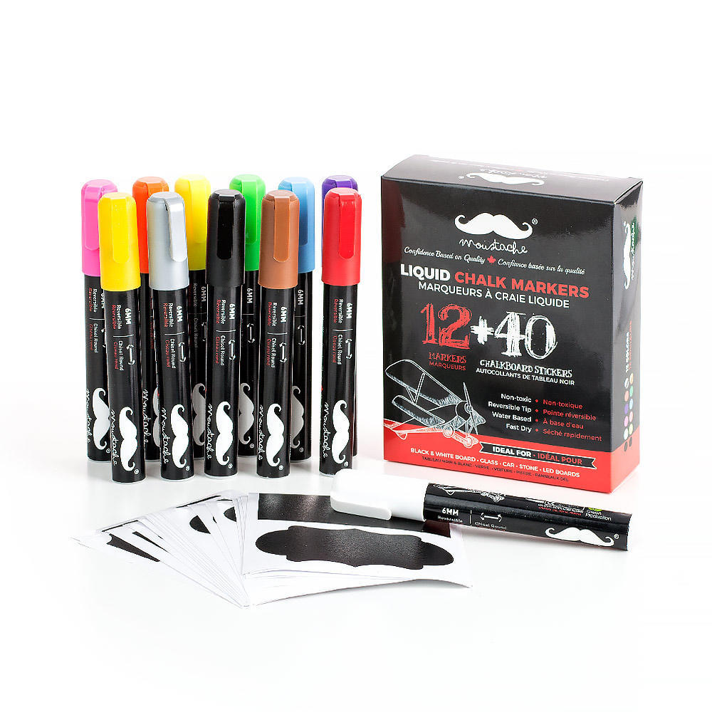 Moustache Liquid Chalk Markers