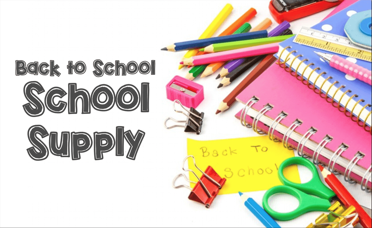 Back to School sale for school supply