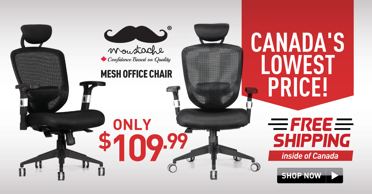 Ergonomic Adjustable Office Mesh Chair With Adjustable Headrest And Lumbar Support