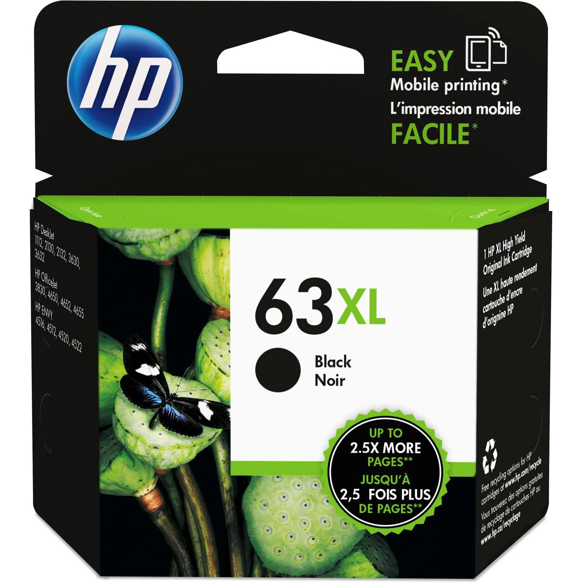 HP 63XL F6U64AN Original Black Ink Cartridge High Yield