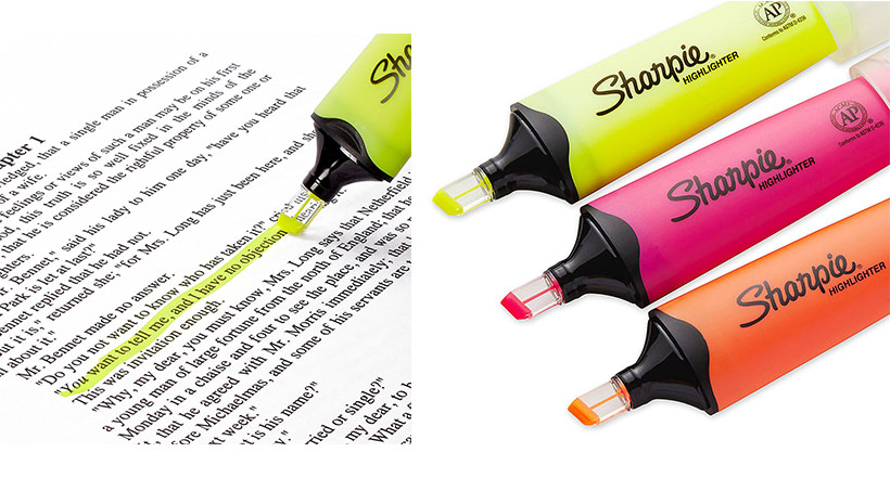 Sharpie highlighter