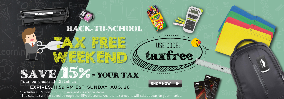 Back to School save tax weekend