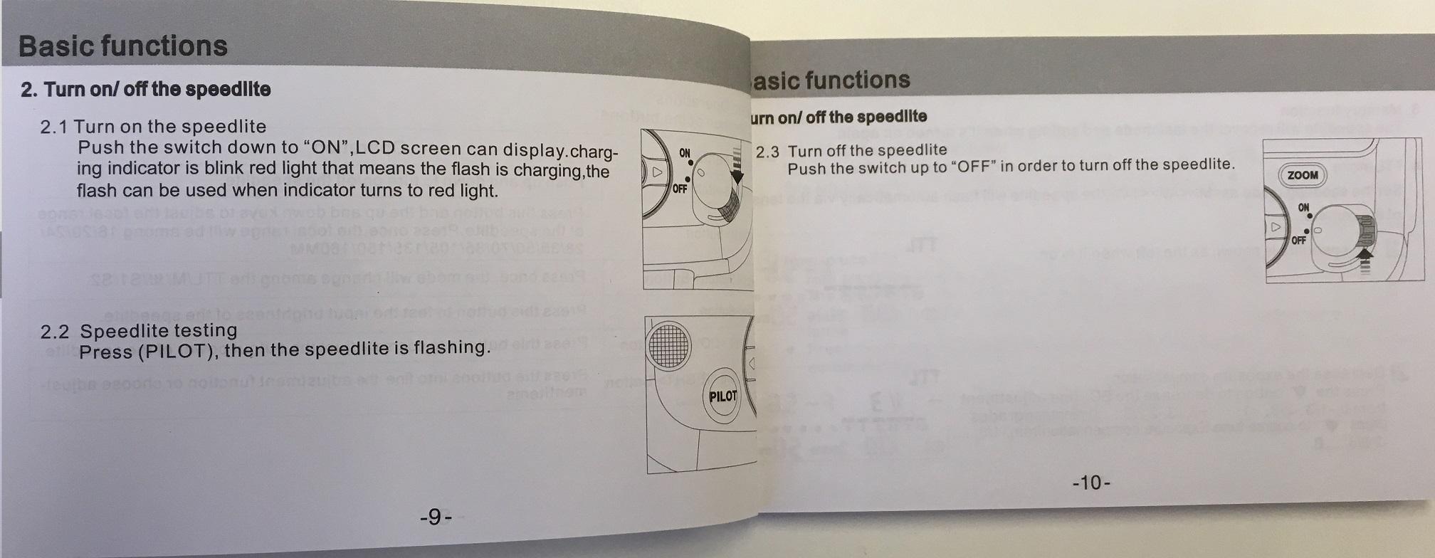 User Manual for Speedlite VK430