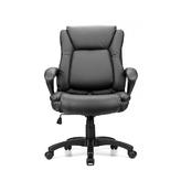 Ergonomic Faux-Leather Mid Back Office Chair